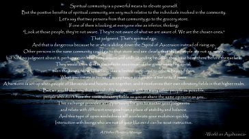 -World on Ayahuasca- Spiritual Community and Spiritual ego